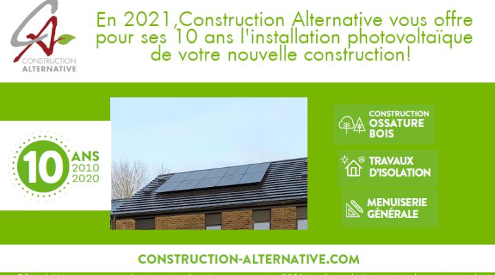 Votre installation photovoltaïque offerte pour nos dix ans!