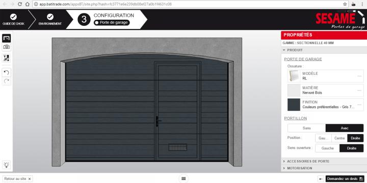 Configurez votre porte de garage Sesame !