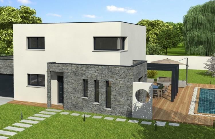 Une maison toit terrasse derni re tendance en architecture for Maison toit vegetal