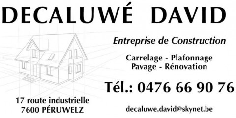 avis sur l 39 entreprise decaluwe david entreprise de construction. Black Bedroom Furniture Sets. Home Design Ideas