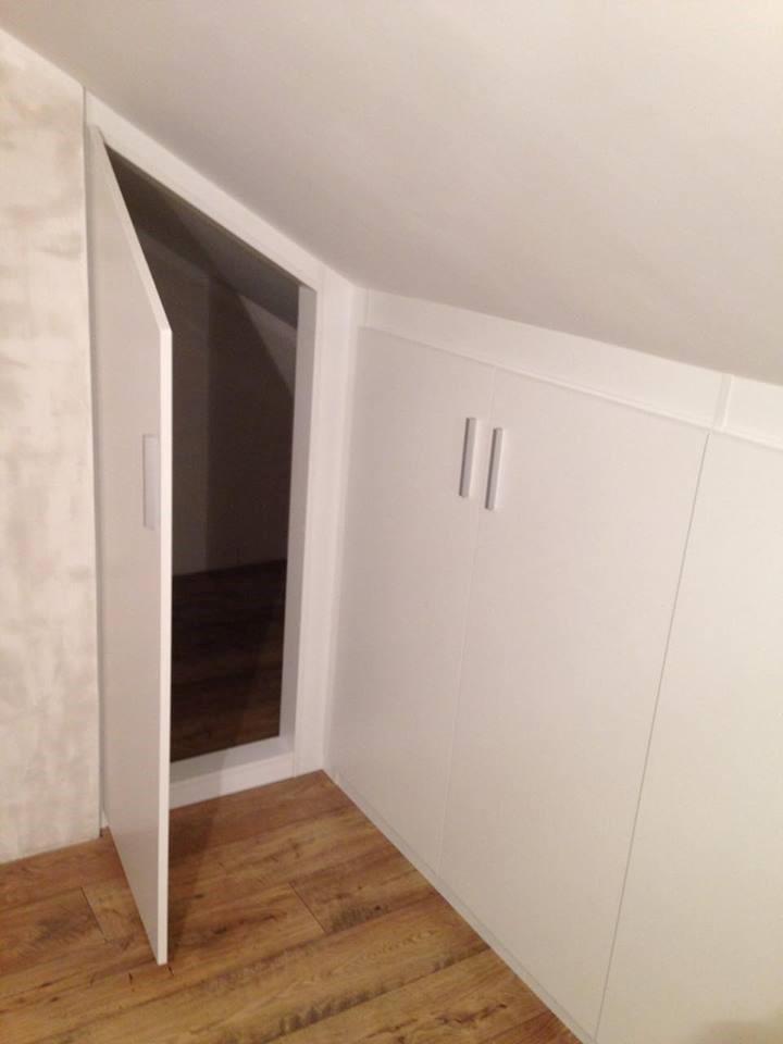 placard sous mansarde evolumeuble. Black Bedroom Furniture Sets. Home Design Ideas