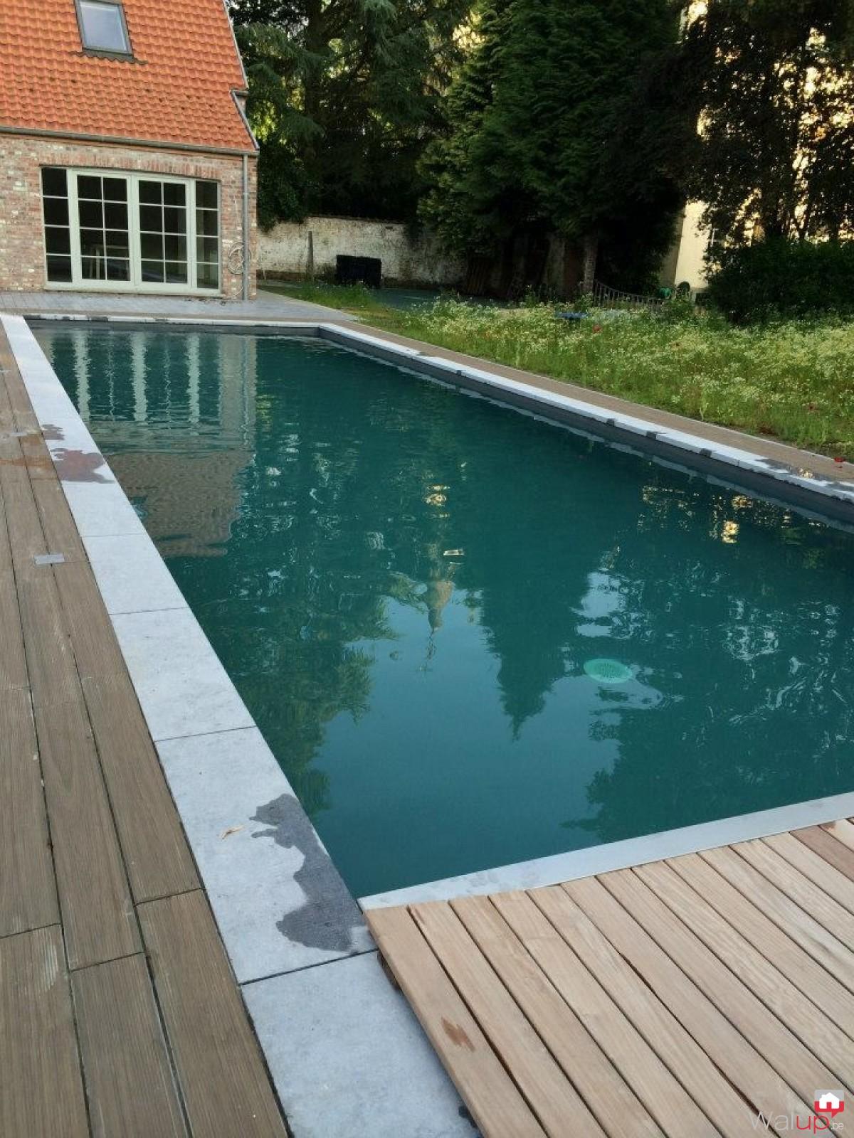 pr paration de la piscine pour la pose du par pool conception sprl. Black Bedroom Furniture Sets. Home Design Ideas