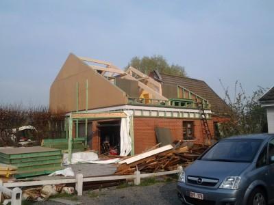 Réhaussement et extension maison (Namur)