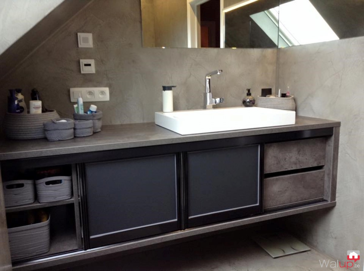 meuble salle de bain sur mesure anseroeul par evolumeuble. Black Bedroom Furniture Sets. Home Design Ideas