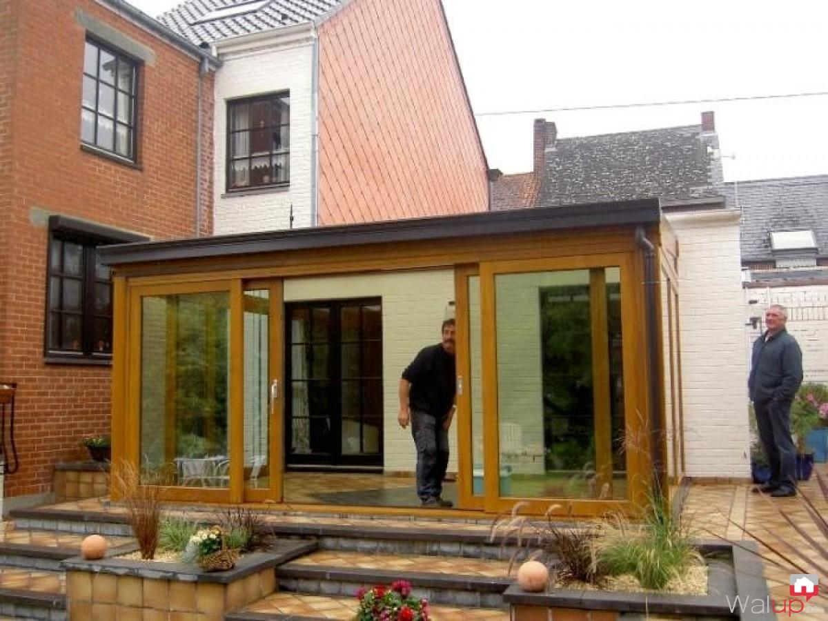 R alisations v randa hainaut par veranda hainaut - Veranda ouverte terrasse ...