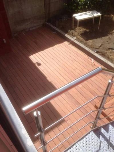 Terrasse & montée d'escalier