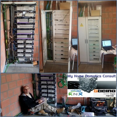 Installation armoire domotique