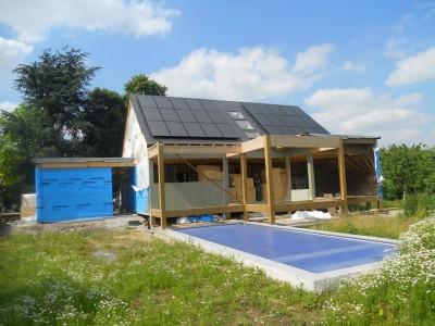 Réalisation d'une maison sur pilotis (Hainaut Occidental)