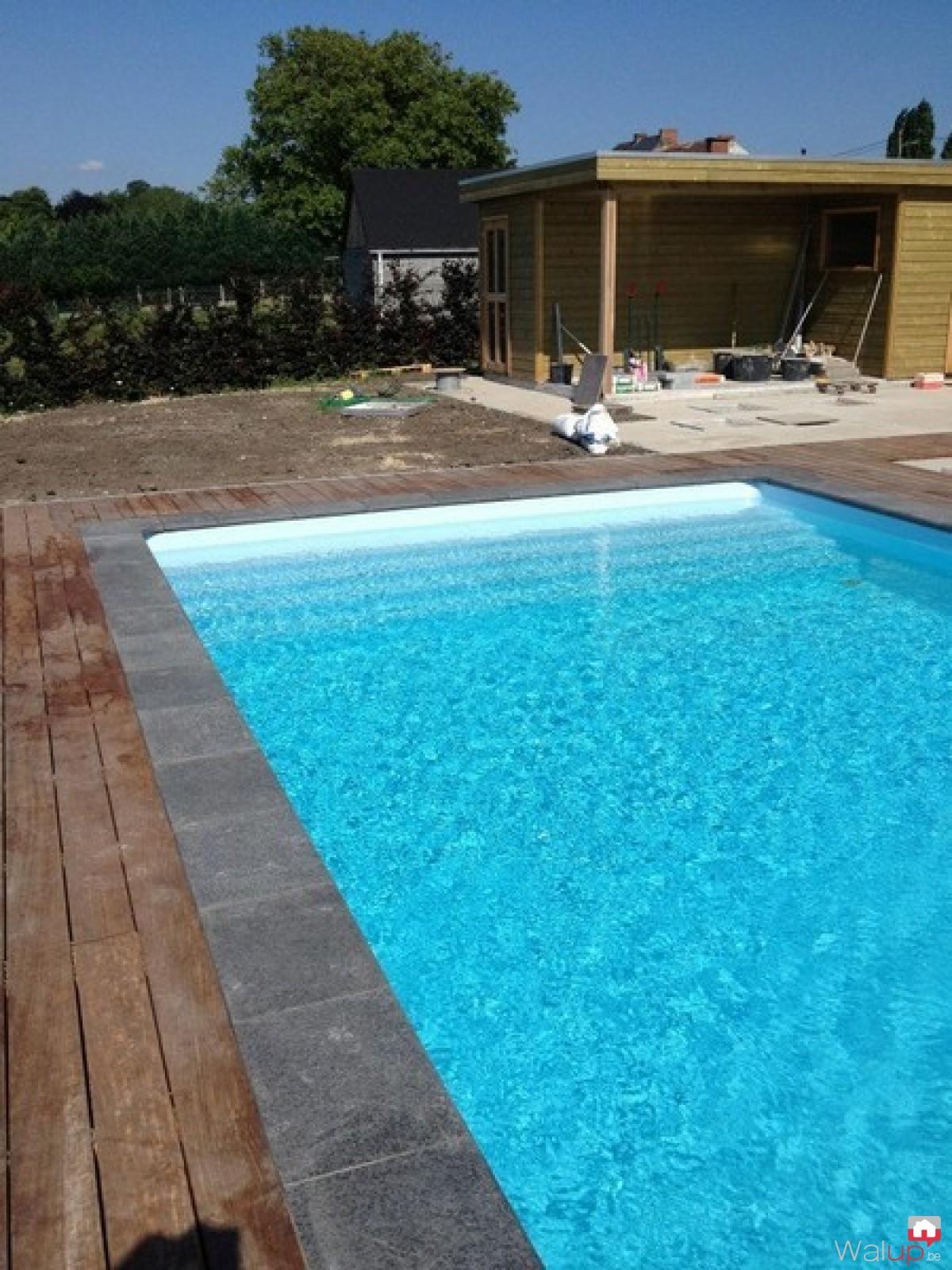 Construction d 39 une piscine ext rieure par pool conception sprl - Construction d une piscine ...