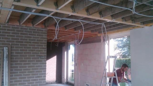 Extension plafonnage et pose gyproc plafond