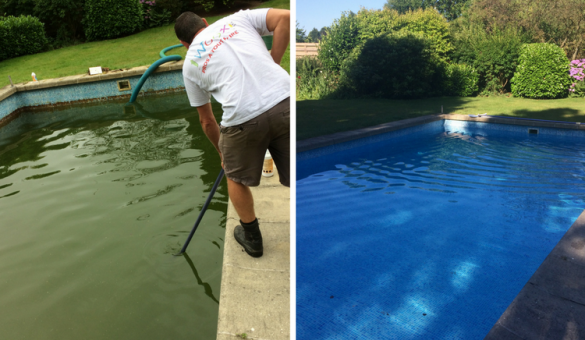 Nettoyage et remise en route d'une piscine