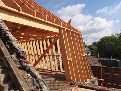 Rénovation de toiture (Pendant et après)