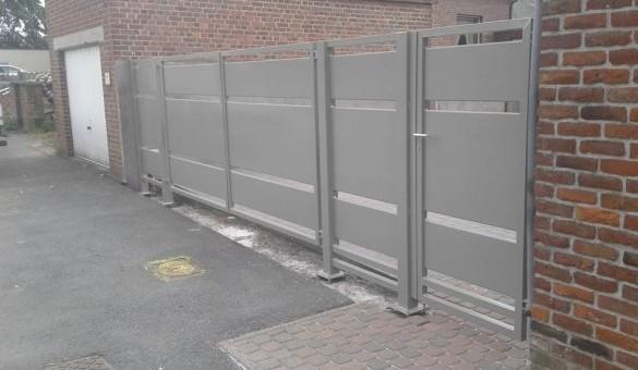 Pose portail deux ouvrants + portillon