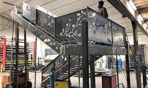 Fabrication d'un escalier dans notre atelier