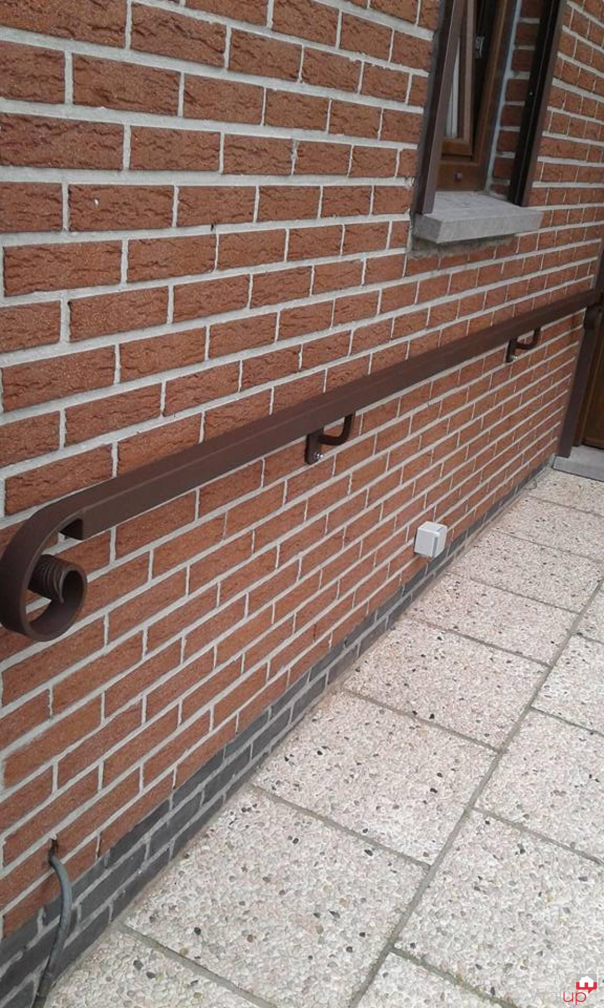 Rampe d 39 escalier ext rieur tournai par ferronnerie noulet for Rampe d escalier exterieur