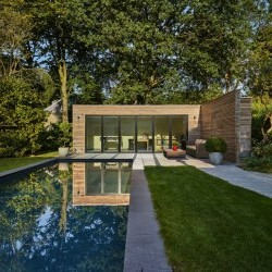 Poolhouse en Padouk
