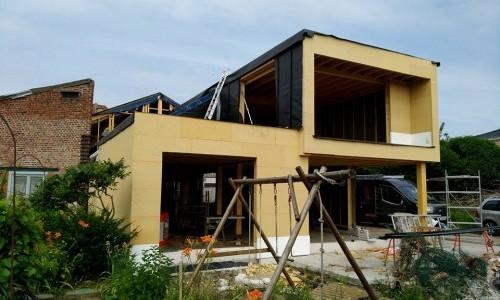 Maison ossature bois en centre-ville