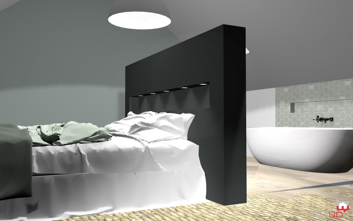 am nagement d 39 un grenier en chambre parentale ath par laura clausier. Black Bedroom Furniture Sets. Home Design Ideas