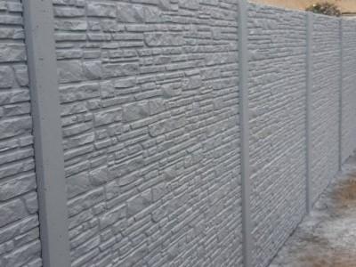 Clôture béton structuré