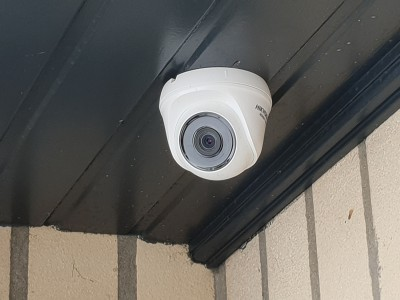 Installation de camera de surveillance