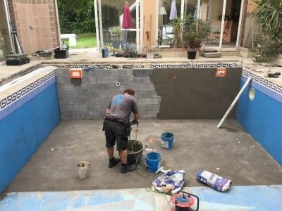 Rénovation piscine intérieur
