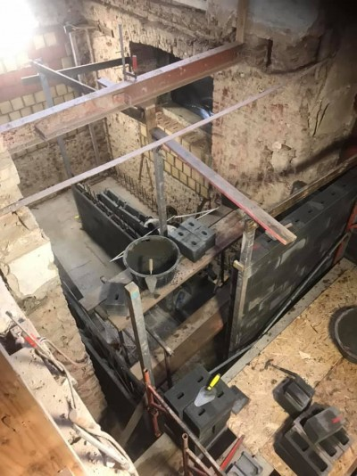 Cage d'escalier et d'ascenseur