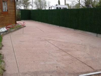 Aménagement d'un parking en dalle à gazon Avant/Après
