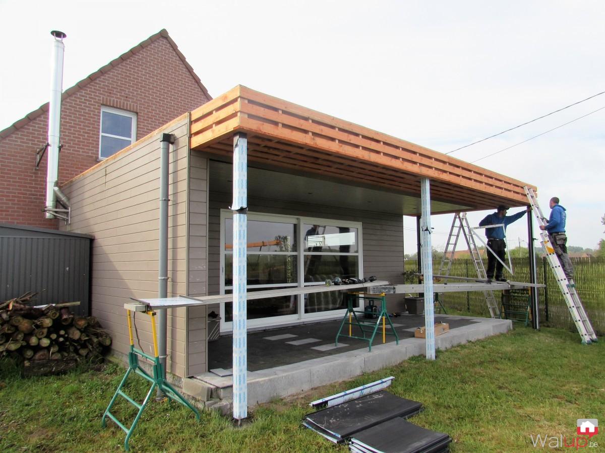 terrasse couverte bois maison design. Black Bedroom Furniture Sets. Home Design Ideas