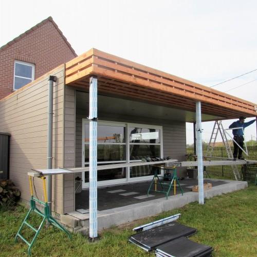 Toiture terrasse couverte