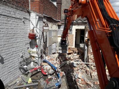 démolition et fondation pour extension