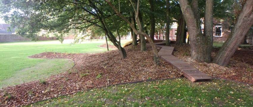 Aménagement du jardin de l'école d'Anseroeul