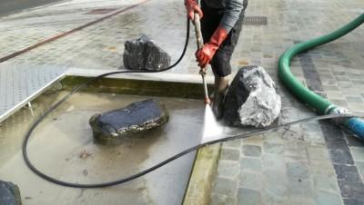 Nettoyage d'un étang