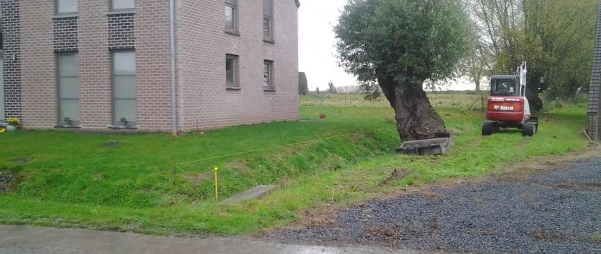 Mur de rétention Avant/Après