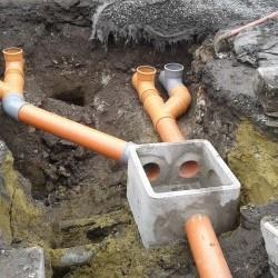Raccordement à l'égout pour deux maisons