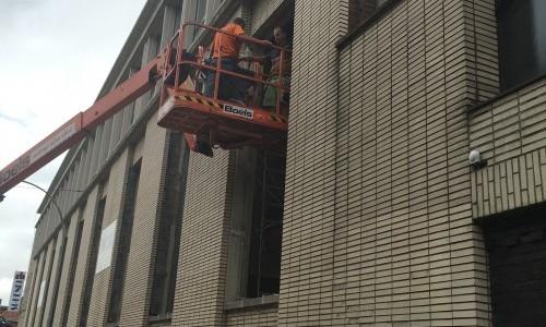 Ouvriers en action