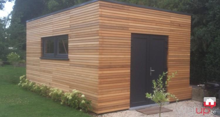 Construction d'un garage en ossature bois