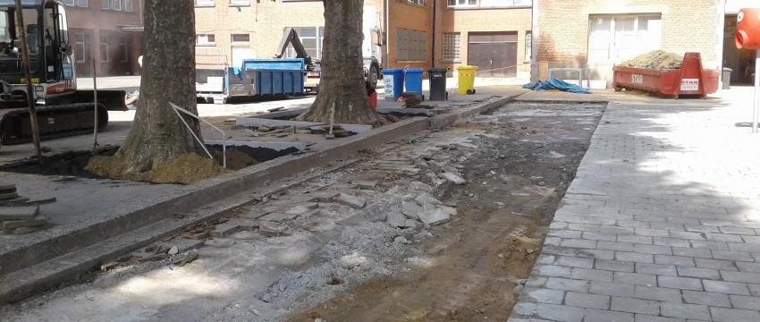 Aménagement d'une cour d'école Avant/Après