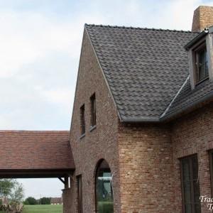 Toiture de terrasse avec tuilettes