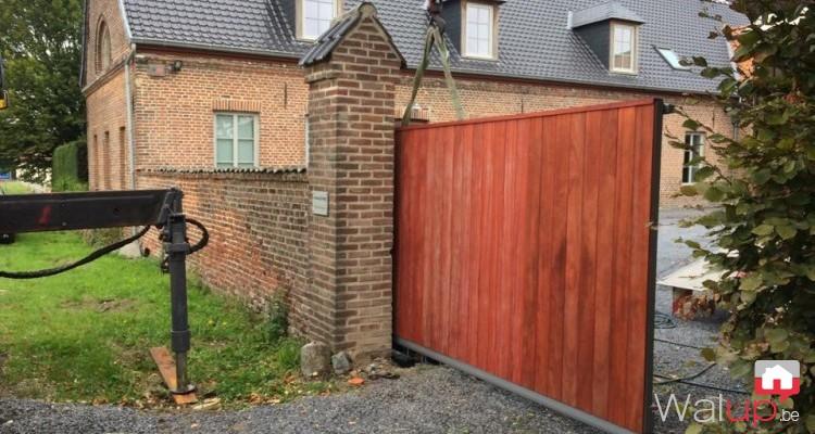 Mise en place d'un portail motorisé