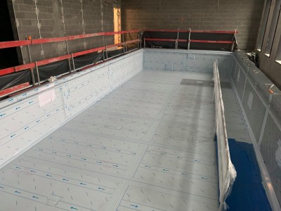 Une piscine toute neuve pour un nouvel hôpital