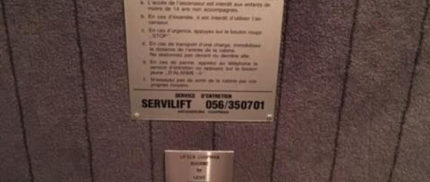 Modernisation et mise en conformité d'un ascenseur