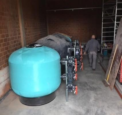 Rénovation d'une piscine public.