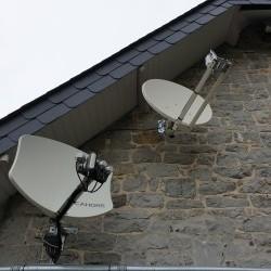 Installation satellite pour television et internet