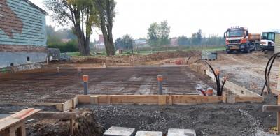 Terrassement et fondation d'une nouvelle construction