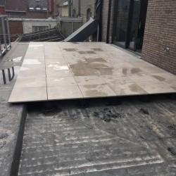 Réalisation d'une terrasse sur plots