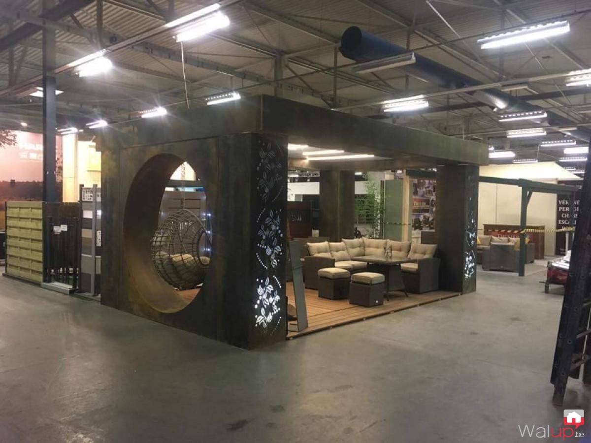Création du stand Déco & Jardin à Tournai-Expo par BV Ferronnerie
