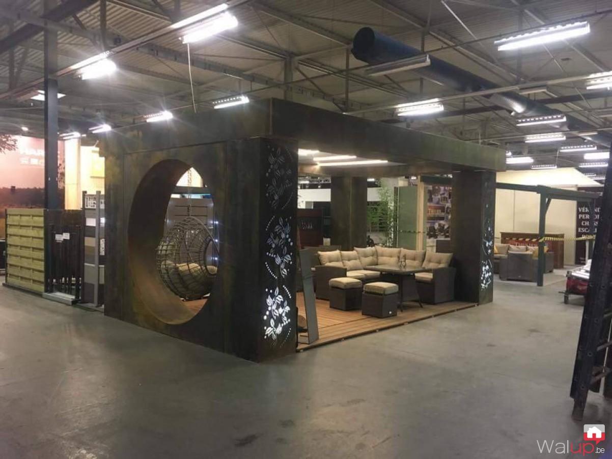 Création du stand Déco & Jardin à Tournai-Expo par BV ...
